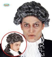 Parrucca grigia con boccoli per travestimento gotico vampiro settecento