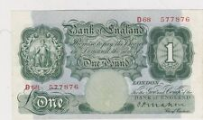 B212 MAHON 1928 £1 BANKNOTE D68 IN NEAR EXTREMELY FINE CONDITION