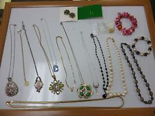LOT of 16 MULTI VINTAGE/ANTIQUE/MODERN / Earrings / Necklaces/ Bracelets LOT #55
