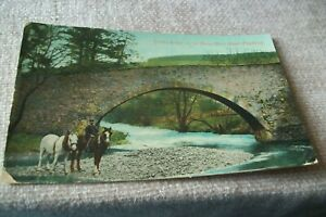POSTCARD -- ROMAN BRIDGE ON THE MANOR WATER NEAR PEEBLES