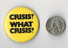 SUPERTRAMP Crisis? What Crisis? 1975 LP Album PROMO PIN Button Badge