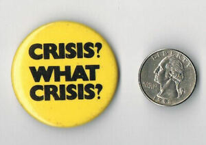 SUPERTRAMP Crisis? What Crisis? 1975 LP Album PROMO PIN Button Badge