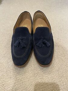 Charles Tyrwhitt Dress Shoes Navy Blue Suede Size 10