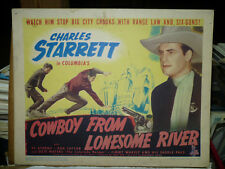 COWBOY FROM LONESOME RIVER, orig LCS (Charles Starrett, Dub Taylor) - 1944