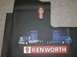 One Set Of Genuine Kenworth Truck Floor Mats Blue