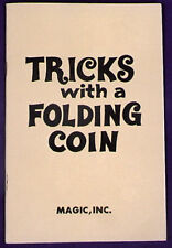 Morris Costumes 30 Pages Frank Garcia Trick With A Folding Coin Magic Book. Ra30