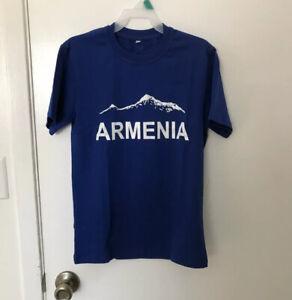 NEW ARMENIA HAYASTAN KIDS UNISEX ORIGINAL COTTON T-SHIRT WITH ARARAT, SIZE 38