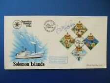 1986 OPERATION RALEIGH SOLOMON ISLES COVER SIGNED BY BOB HOLNESS - BLOCKBUSTERS