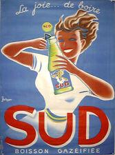 Sud Boisson by Bellenger 1950 ORIGINAL VINTAGE FRENCH DRINKS POSTER