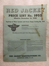Red Jacket 1952 Price List Water Systems & Power Pumps Davenport Iowa 36 Pages