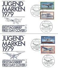 Germany 1979 FDC 1005-08a Luftfahrt Flugzeuge Plane