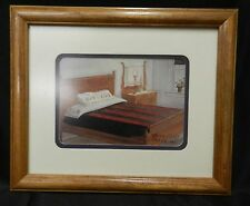 Signed 1994 Lancaster Amish Susie Riehl Quilt Spread Bed Room Framed Art Print