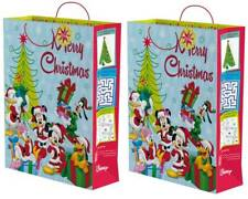 "Set Of 2 Jumbo Christmas Gift Bags 23.5"" x 18"" - Disney Mickey Mouse & Friends"