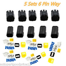 5 Kits 6 Pin Way Sealed Waterproof Electrical Wire Connector Plug Terminal Set