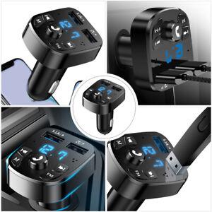 Chargeur USB voiture Bluetooth Transmetteur FM Adaptateur radio Lecteur MP3