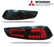 LED TAIL LIGHT SMOKE BLACK LAMP Mitsubishi Evolution 10 EVO X LANCER EX 08-15 CJ