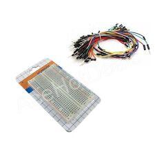 Mini Prototype board Electronic deck + 65pcs Breadboard Wire cable for Arduino