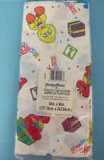 Sesame Street You're 1 Birthday Party Tablecover Tablecloth White Yellow Plastic