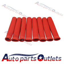 RED 8PCS 1200° SPARK PLUG WIRE BOOTS HEAT SHIELD PROTECTOR SLEEVE SBC BBC