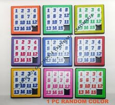 15 NUMBER PUZZLE SLIDE SMART BRAIN GAME JIGSAW TOY KIDS random color
