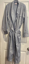 Brooks Brothers Blue & White Check 100% Cotton Wrap Robe in Large NWOT