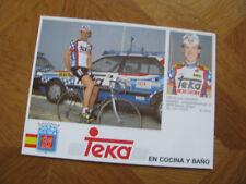 Carte 16 cm x 12 de Nikolaas EMONDS (Belgique)  équipe TEKA 1989