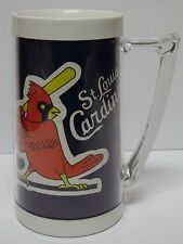 Vtg 1970s ST. LOUIS CARDINALS MLB BASEBALL BUD LIGHT BEER ADVERTISING BEER MUG