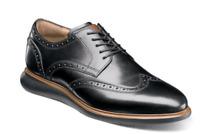Florsheim Mens Shoes Fuel Wingtip Oxford Black Dressy Casual 14238-001