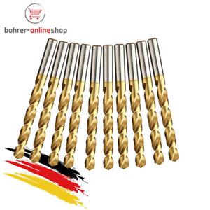 10x HSS-TIN Metallbohrer Spiralbohrer für Akkuschrauber/Bohrmaschine Ø 1,3mm