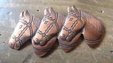 Vintage Copper Horse Brooch 7.2cm