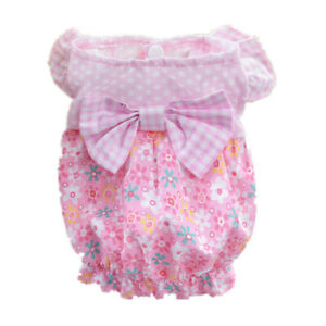 Pet Dress Puppy Dog Skirt With A Bow Cotton Shirt For Small Dogs Clothes Yorkie