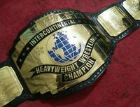 WWF Intercontinental Wrestling Championship Belt Metal Plates Replica Adult Size
