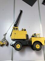 Vintage MIGHTY TONKA Turbo Diesel Crane Truck  Steel Clam Bucket Scoop 1970-73