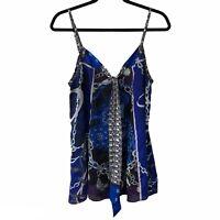 Express Royal Blue Sleeveless Tank Top Medium Women's Elegant Style Designer
