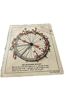 1930's BIKE ADVERTISEMENT PUZZLE, MODESTO CA BIKE SHOP.  GREYHOUND BICYCLES.