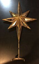 POTTERY BARN MIRRORED STAR CHRISTMAS TREE TOPPER NEW RARE!