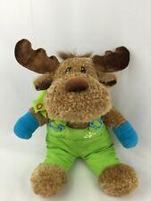 "Dan Dee Moose Lover Plush Stuffed Animal Lime Snow Pants Collector's Choice 15"""