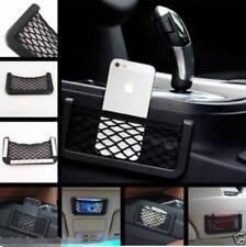 Auto Car Black Storage Net String Pouch Bag GPS Phone Holder Pocket Organizer