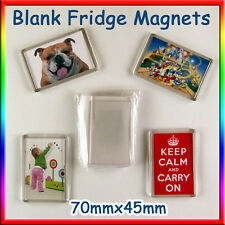 20 Blank Photo DIY 70x45 Make Your Own Fridge Magnets