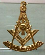 Franc maçon bijou Vénérable bronze masonic jewel