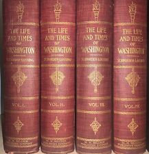 1903 Life and Times of Washington Vol 1-4 Schroeder-Lossing M M Belcher