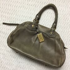 Marc By Marc Jacobs Classic Q Baby Groovee Bag Distressed Taupe Leather