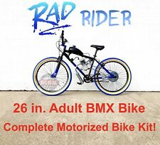 *Rad Rider* Motorized 66/80cc Engine & 26� Adult Bmx Bicycle - Motor Bike Kit