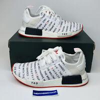 "Adidas NMD R1 J ""Tokyo"" EH3201 Grade School White Black Red NEW GS Sizes 4.5-7"