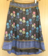 Laura Ashley Ladies Skirt 12 Summer Casual Retro Flower Pattern Holiday Everyday