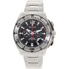 Nautica NMX 150 Chronograph Black Dial Stainless Steel Men's Watch N31517G