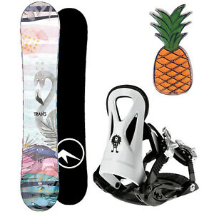 TRANS FE GIRL KINDER SNOWBOARD SET 2020 ~ 135 CM + JUNIOR BINDUNG GR. M + PAD
