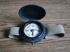Rare old antique, wrist wear dial operating brass compass, (WWI).