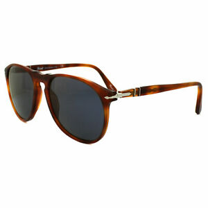 Persol Sunglasses 9649 96/56 Terria di Siena Tortoise Blue