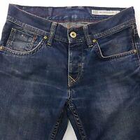 Tommy Hilfiger WILSON Mens Jeans W30 L33 Dark Blue Regular Fit Straight Low Rise